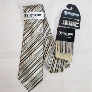 Stacy Adams tie and pocket square set